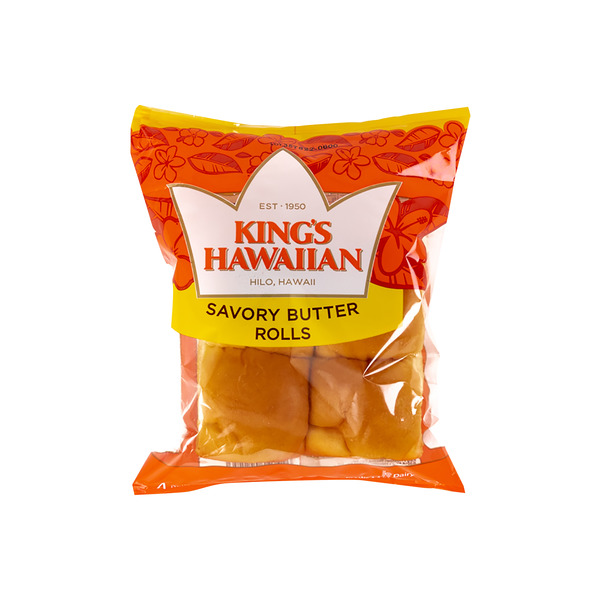 King's Hawaiian Rolls Savory Butter - 4 ct
