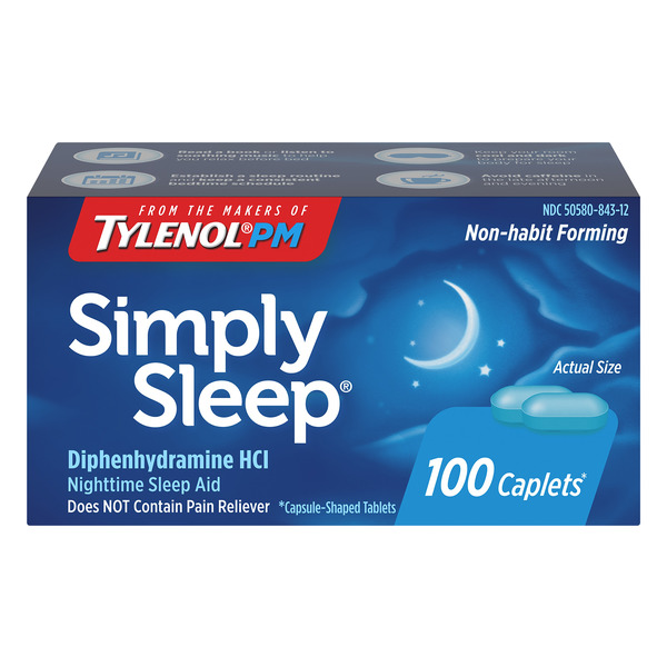 Tylenol PM Simply Sleep Nighttime Sleep Aid Caplets