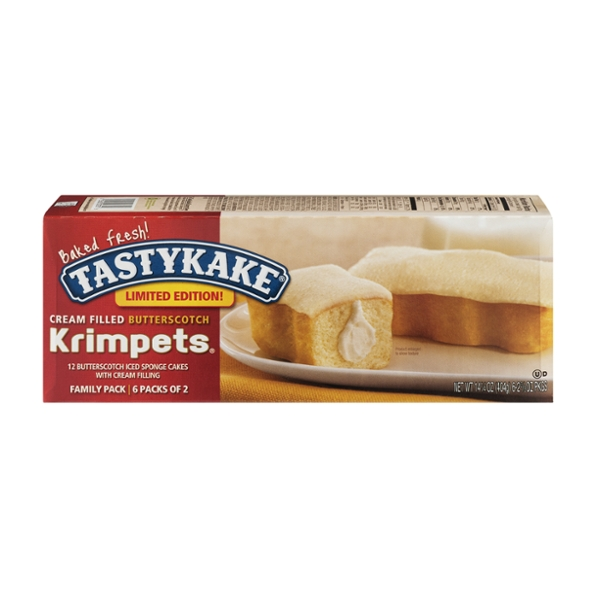 Tastykake Krimpets Butterscotch Cream Filled 2 ea - 6 ct