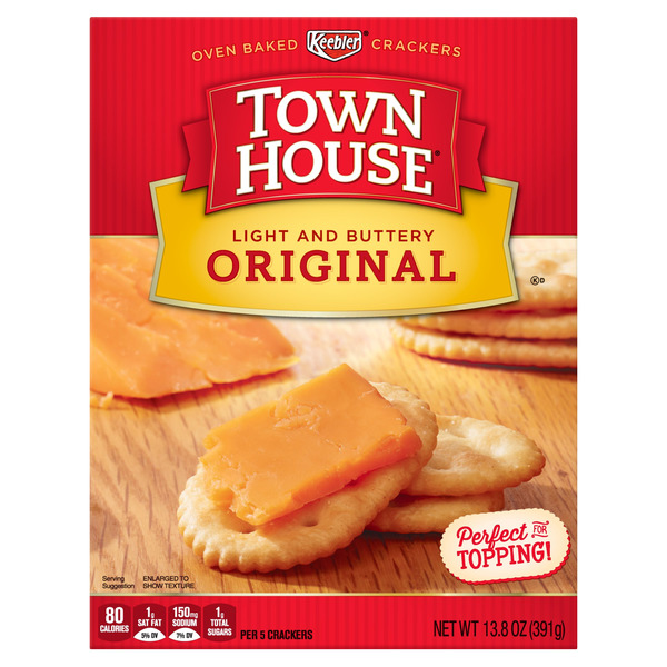 Keebler Town House Crackers Original Light and Buttery