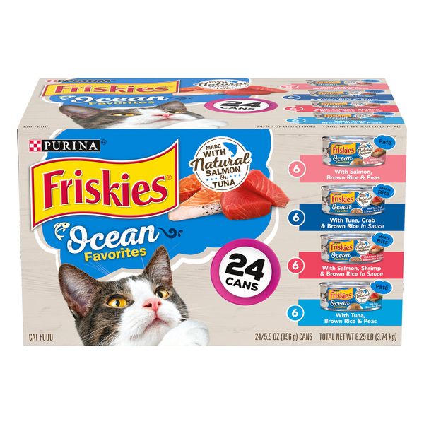 Friskies Ocean Favorites Wet Cat Food Variety Pack - 24 ct