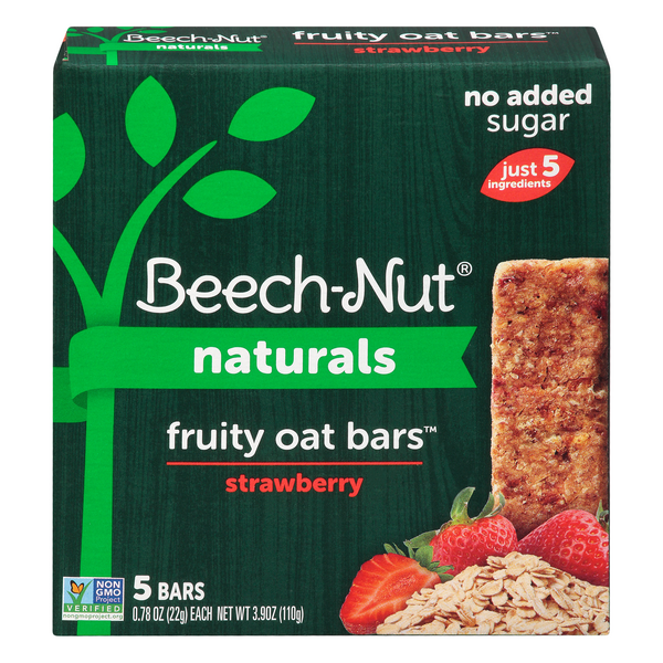 Beech-Nut Naturals Fruity Oat Bars Strawberry - 5 ct