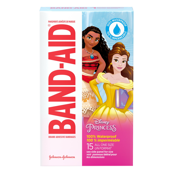 Band-Aid Disney Princess Bandages 100% Waterproof One Size