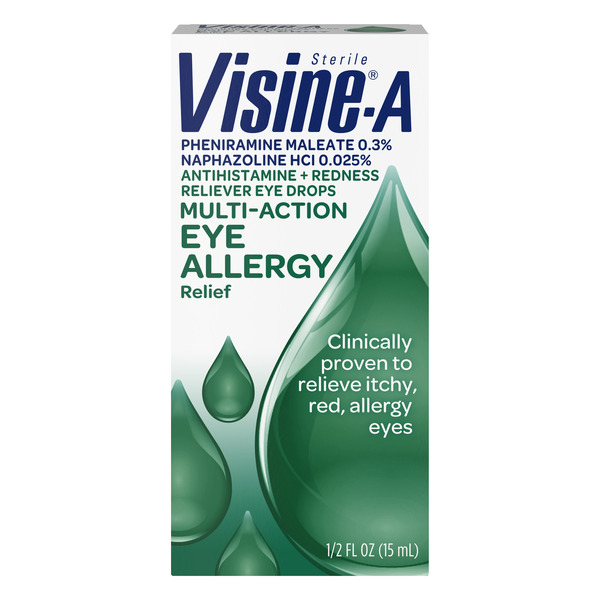 Visine-A Eye Allergy Relief Eye Drops Antihistamine & Redness Reliever