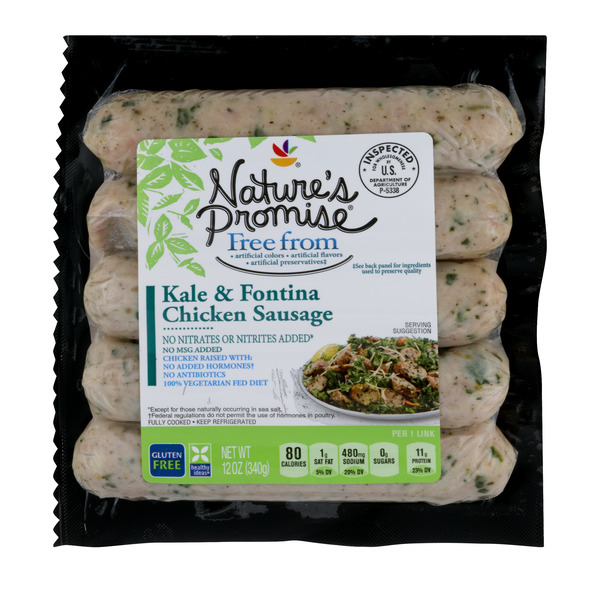 Nature's Promise Free from Chicken Sausage Kale & Fontina - 5 ct