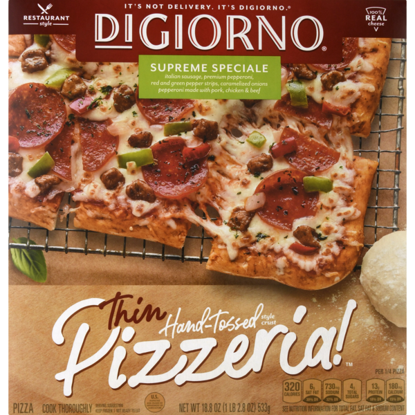 DiGiorno Pizzeria! Hand Tossed Thin Crust Pizza Supreme Speciale
