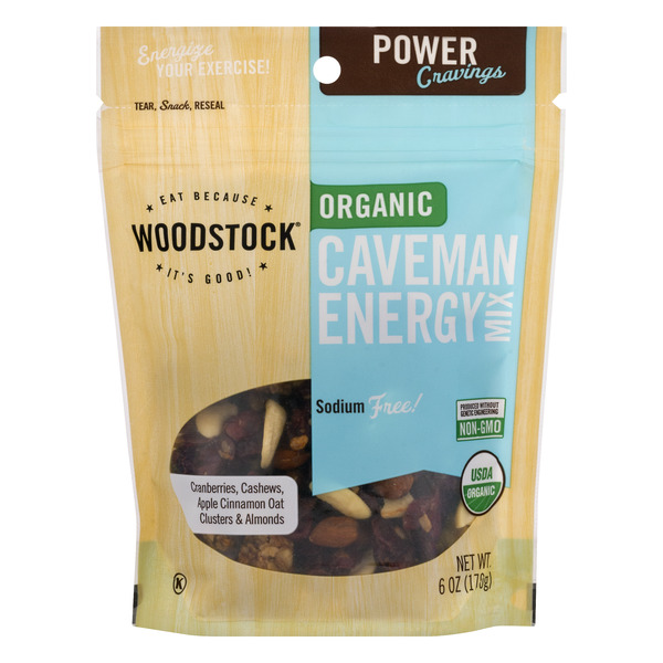Woodstock Caveman Energy Snack Mix Sodium Free Organic