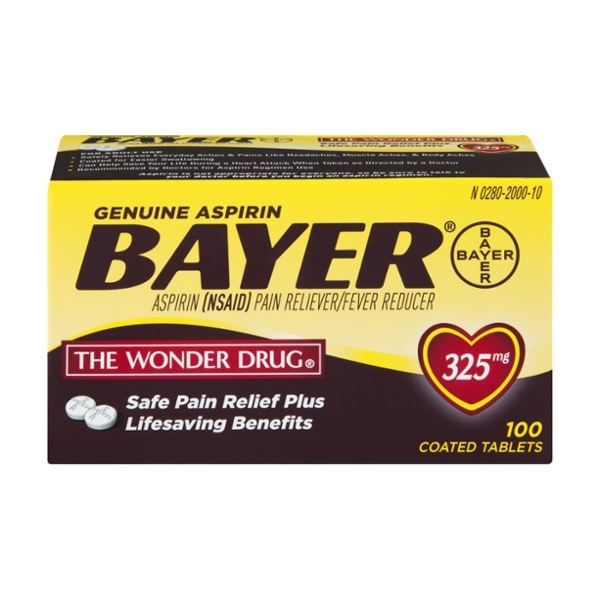 Bayer Aspirin Pain Relief 325 mg Coated Tablets