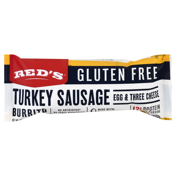 Red's Burrito Turkey Sausage Egg & Three Cheese Gluten Free