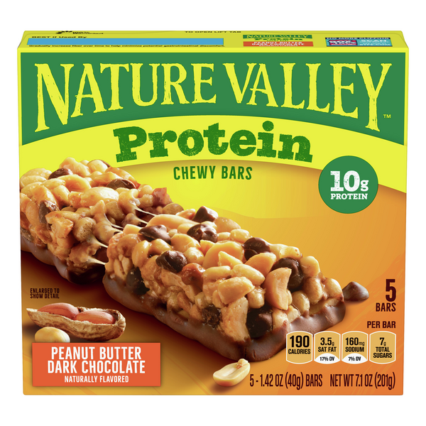 Nature Valley Protein Chewy Bars Peanut Butter Dark Chocolate - 5 ct