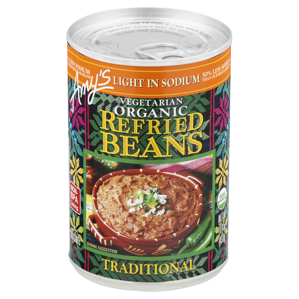 Amy's Refried Beans Traditional Light in Sodium Vegetarian Organic