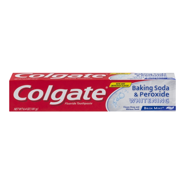 Colgate Toothpaste Baking Soda & Peroxide Whitening Brisk Mint