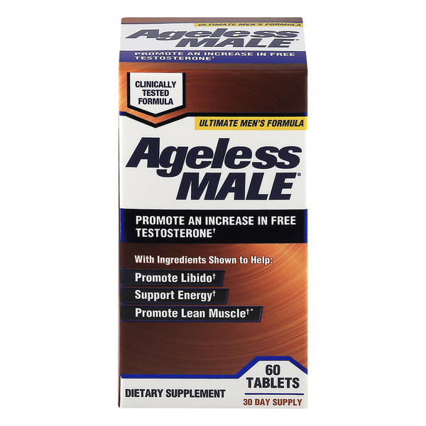 Ageless Male Promote Ultimate Men's Formula Dietary Supplement