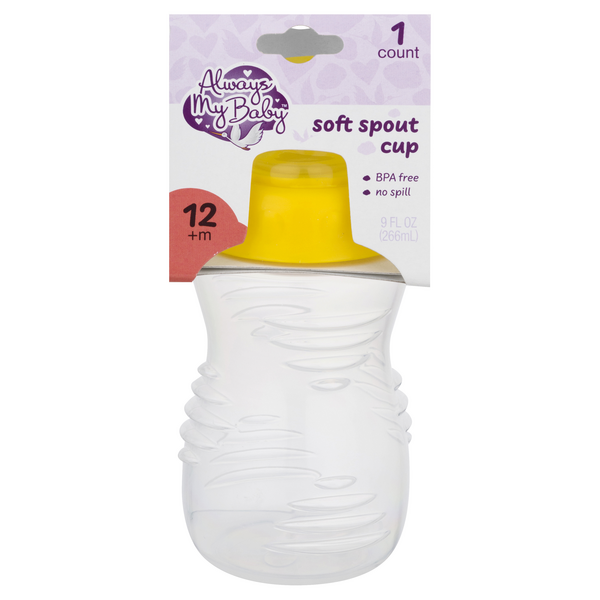 Always My Baby Soft Spout Cup Yellow 12+m 9 oz