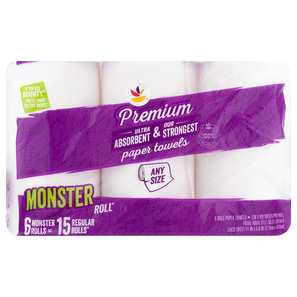 Giant Premium Paper Towels Monster Roll
