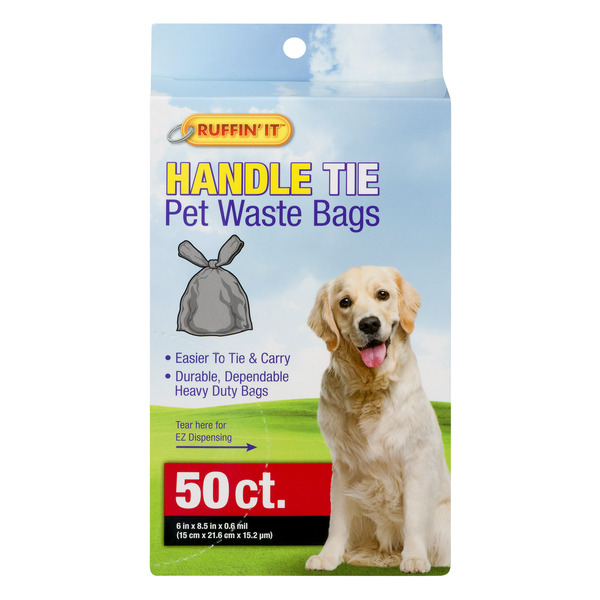 Ruffin' It Handle Tie Pet Waste Bags