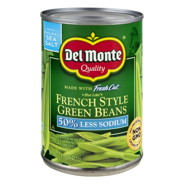 Del Monte French Style Green Beans 50% Less Sodium