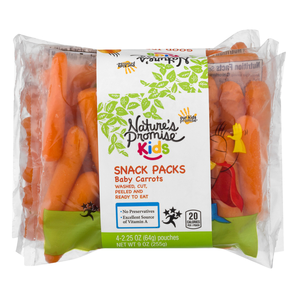 Nature's Promise Kids Baby Carrots Snack Packs - 4 ct