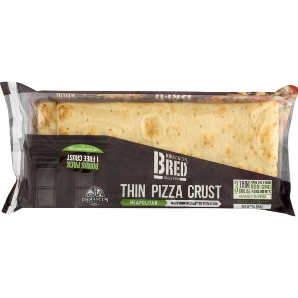 Brooklyn BRED Thin Pizza Crust Neapolitan - 3 ct