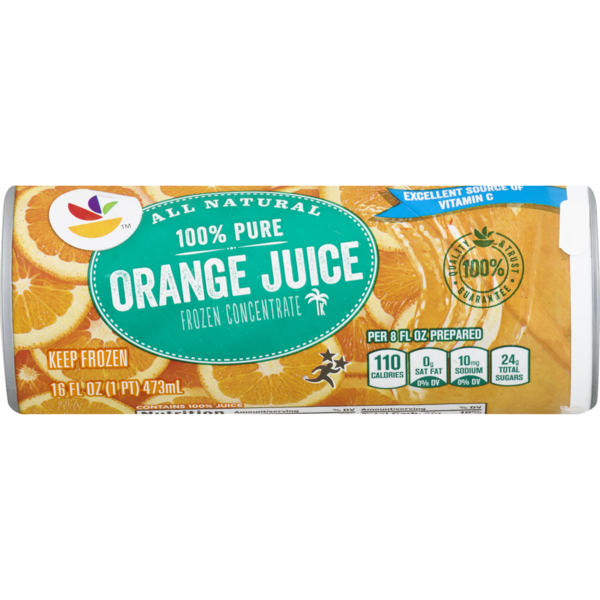 Stop & Shop 100% Pure Orange Juice Original Concentrate All Natural Frozen