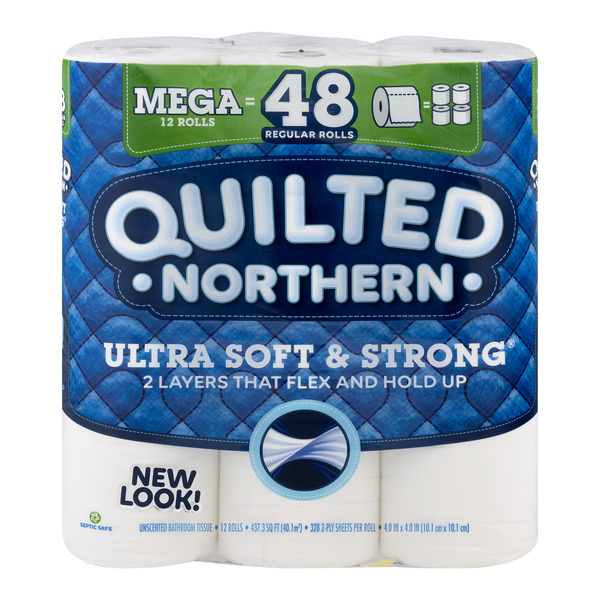 Quilted Northern Ultra Soft & Strong Bathroom Tissue Mega Rolls 2-Ply