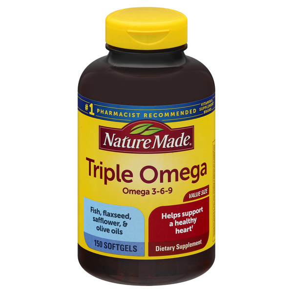 Nature Made Triple Omega 3-6-9 Dietary Supplement Softgels