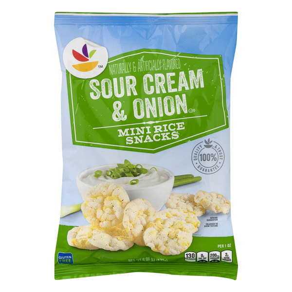 Stop & Shop Mini Rice Snacks Sour Cream & Onion