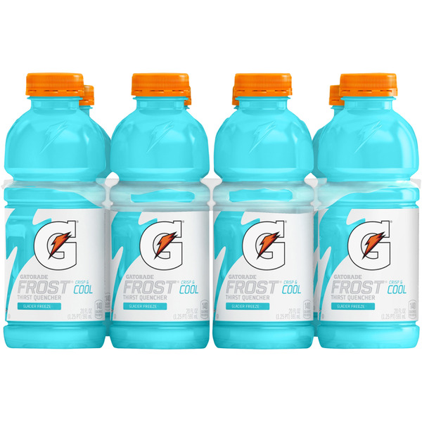 Gatorade Frost Thirst Quencher Sports Drink Glacier Freeze - 8 pk