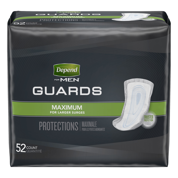 Depend for Men Guards Maximum Absorbency