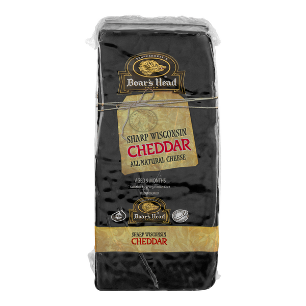Boar's Head Sharp Wisconsin Deli Cheddar Cheese (Regular Sliced)