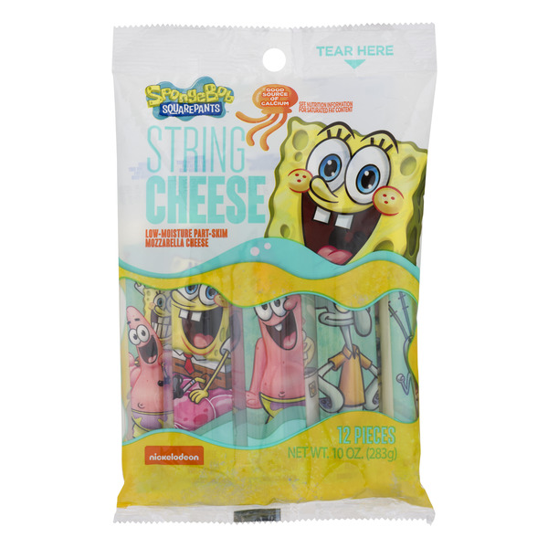 SpongeBob SquarePants String Cheese Mozzarella - 12 ct