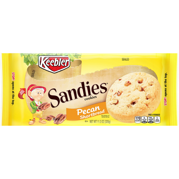Keebler Sandies Shortbread Cookies Pecan
