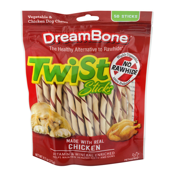 DreamBone Chews Twist Sticks Vegetable & Chicken