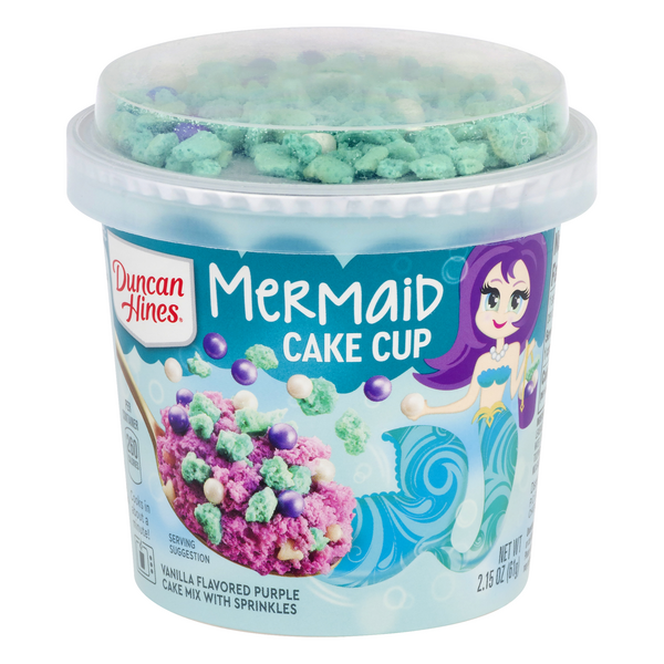 Duncan Hines Mermaid Cake Cup Cake Mix with Sprinkles Vanilla