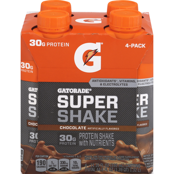 Gatorade Super Shake Chocolate - 4 pk