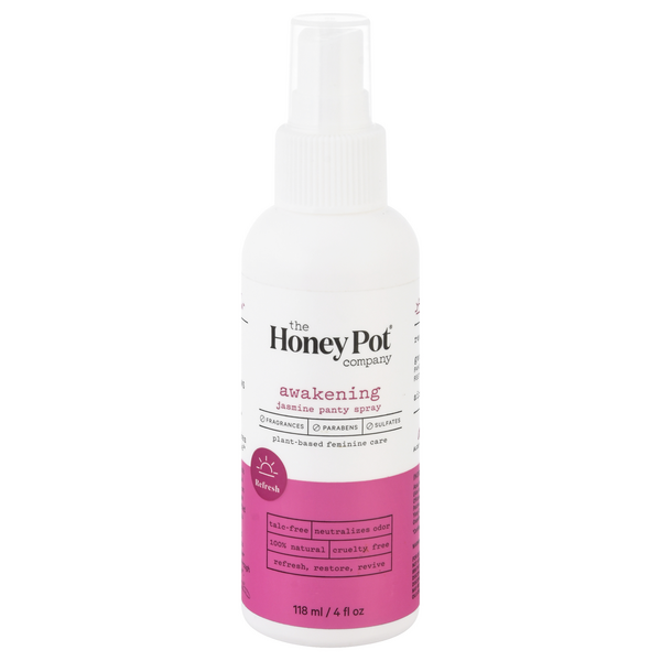 The Honey Pot Company Plant-Based Feminine Care Jasmine Panty Spray