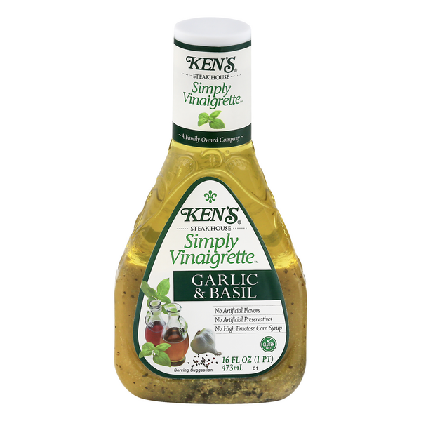Ken's Simply Vinaigrette Dressing Garlic & Basil