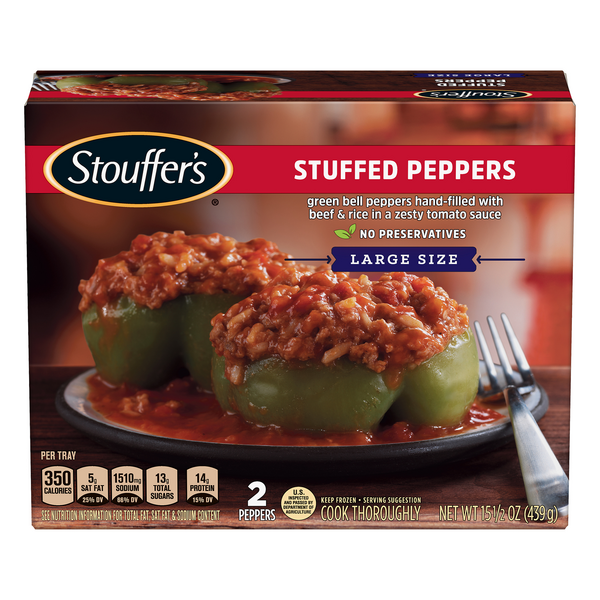 Stouffer's Stuffed Peppers Frozen Dinner Large Size