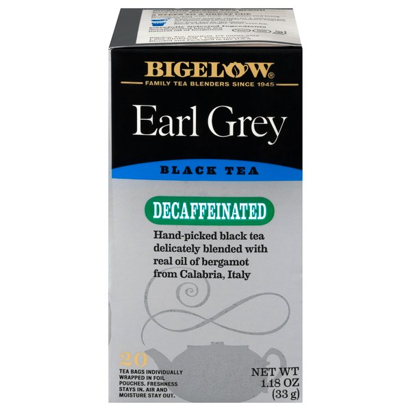 Bigelow Earl Grey Black Tea Bags Decaffeinated