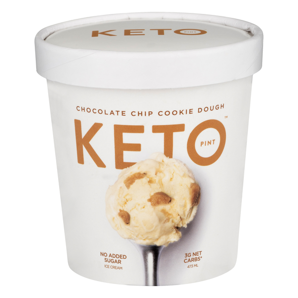 Keto Pint Ice Cream Chocolate Chip Cookie Dough Low Carb