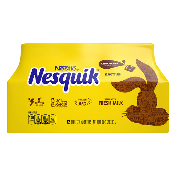 Nestle Nesquik Chocolate Milk - 12 pk