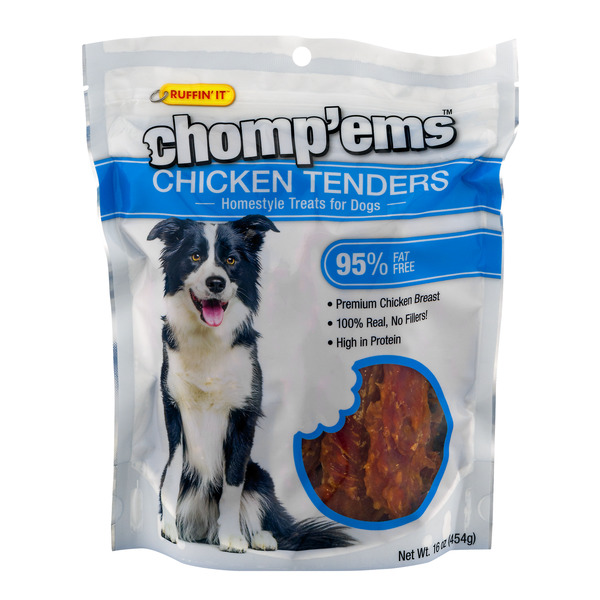 Ruffin' It Chomp'ems Chicken Tenders Treats for Dogs