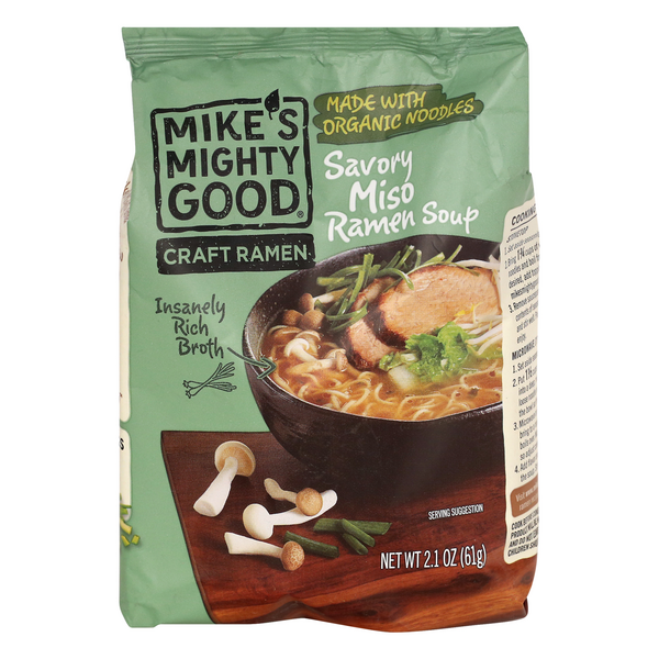Mike's Mighty Good Craft Ramen Soup Savory Miso
