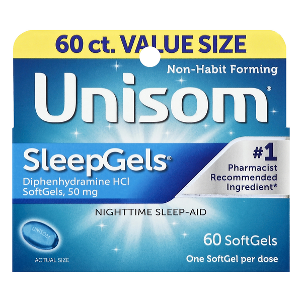 Unisom SleepGels Nighttime Sleep-Aid Softgels