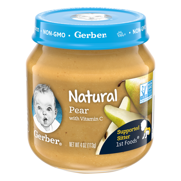 Gerber 2nd Baby Food Natural Pear Sitter