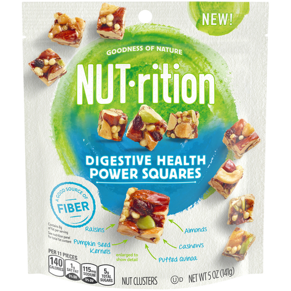 Planters NUT-rition Nut Clusters Digestive Health Power Squares