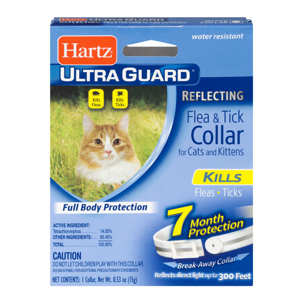 Hartz UltraGuard Flea & Tick Collar for Cats & Kittens Reflecting White