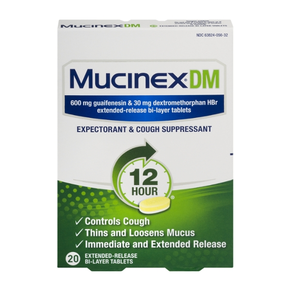 Mucinex DM Expectorant/Cough Suppressant 12 Hour Extended Release Tablets