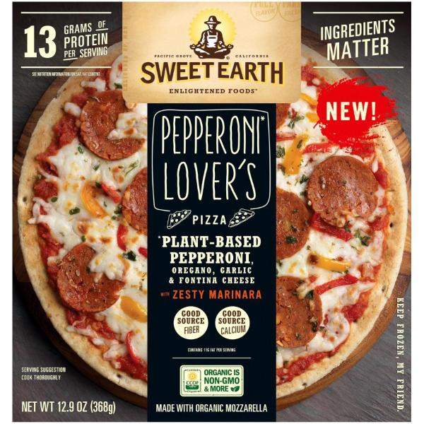 Sweet Earth Pepperoni Lover's Pizza with Zesty Marinara