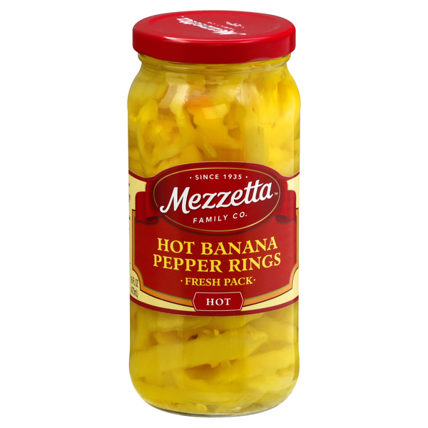 Mezzetta Fresh Pack Pepper Rings Hot Banana